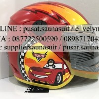 Helm Shell Anak Cars Red not Ink Kyt nhk Axio