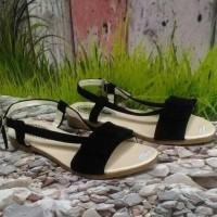 Promo Sandal Wanita Flat Pita Sdl63 - Salem, 37 Termurah