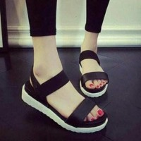 Promo Sandal Wanita Teplek Flat Shoes Tp24 - Putih, 37 Termurah