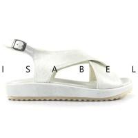 Promo Isabel Madison Sepatu Sandal Wanita Platform Putih Cream Rose