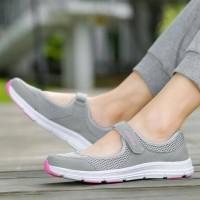 Promo Kets Grey Sloven / Sepatu Wanita Prepet Best Seller - , 37
