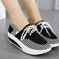 Promo Sepatu Wanita Sneakers Belang Sds191 - Hitam, 37 Termurah