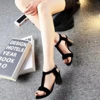 Promo Big Heels Classic Woman 01 Hitam - Hitam, 36 Termurah