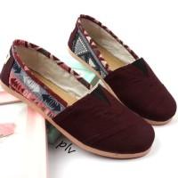 Promo Sepatu Flat Shoes Flatshoes Murah Ala Wakai Ns81 Maroon -
