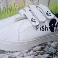 Promo Sepatu Wanita Kets Casual Fish Cat Sds201 - Putih, 40 Termurah