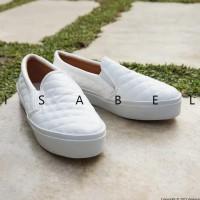 Promo Isabel - Aadc Slip On Shoes - White / Putih - Putih, 37 Termurah