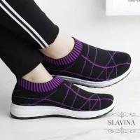 Promo Sepatu Wanita Slip On Shalitta Sds294 - Ungu, 37 Termurah