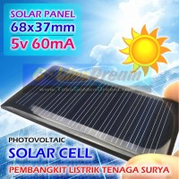 Solar Panel 68x37mm 5v 60mA Pembangkit Listrik Tenaga Surya DIY Cell