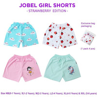 JOBEL Bloomer 4pcs Celana Pendek Anak Perempuan Baby Girl Short - S 1-2thn