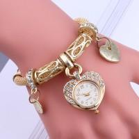 Jam Tangan Import Gelang untuk Wanita Perak Gelang Emas Band Kristal