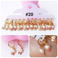#20 XUPING Anting Anak HELLO KITTY Perhiasan Lapis Emas