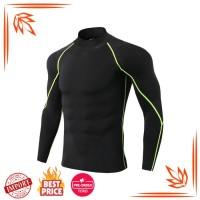 Pria Running Olahraga Kemeja Gym Kebugaran Kompresi Kurus T Shirt