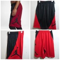 Celana Basket Nike Jordan RISE VERTICAL Hitam Variasi MERAH Grade ORI - Hitam, M