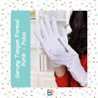 Sarung Tangan Putih Formal Pendek Paskibra
