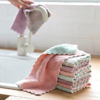 Microfiber Dish kain Efisien peralatan rumah tangga lap kicthen handuk