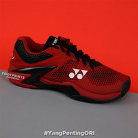 Sepatu Tenis Yonex Power Cushion Eclipsion 2 Red Black Tennis Shoes
