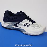Sepatu Tenis Yonex Power Cushion Eclipsion 2 White Navy Tennis Shoes