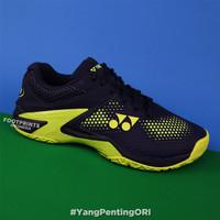 Sepatu Tenis Yonex Power Cushion Eclipsion 2 Navy Yellow Tennis Shoes