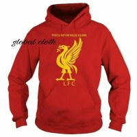 Jaket Hoodie Jumper Liverpool FC YNWA Cotton Fleece