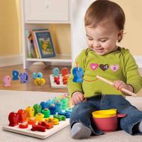 CMK038 Hitung+Pancing ikan PUZZLE KAYU Mainan Edukasi Anak