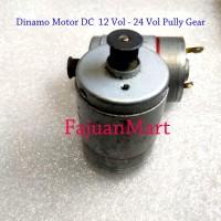Dinamo Motor DC 12 -24 Volt gear