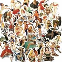 50 pcs Stiker Sexy Beauty Girls Koper Rimowa Sticker Luggage