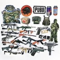32 pcs Stiker PUBG Battlegrounds Senjata Koper Rimowa Sticker Luggage