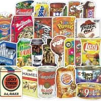 36 pcs Stiker Food Logo Koper Rimowa Sticker Luggage
