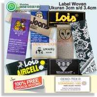Label Woven / Label Pemeliharaan / Care Label Woven / Label Baju