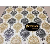 Wallpaper Premium Batik Black & Gold | 45CM x 10M