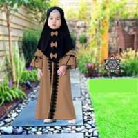 7125 gamis kids baju muslim coksu balotely renda bergo variasi 7127