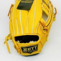 Glove Softball Baseball Zett 11.75 inch BPGT-39SP15 Yellow Pro
