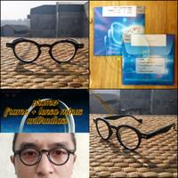 Kacamata frame clasic retro bulat +lensa anti radiasi minus dan normal