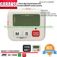 Digital Kitchen Timer / Alarm Masak / Stopwatch lampu LED Alarm NEW