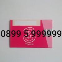 TRI 0899 5 999999 KARTU PERDANA NOMOR CANTIK NOMER 3 THREE