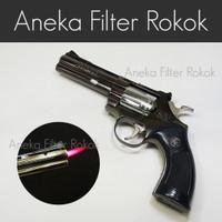 Korek Api Pistol Revolver Big Api Bara   Single Jet Flame Gun Lighter