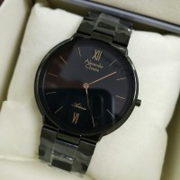 Jam Tangan Pria Alexandre Christie AC 8604 Black Yellow Original