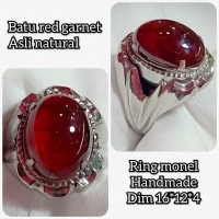 cincin batu akik permata Red garnet kwalitas top asli natural