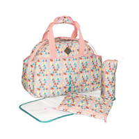 Freckles Travel Bag Triangle Drop Peach Tas Bayi