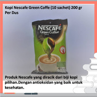 Kopi Nescafe Green Coffe (10 sachet) 200 gr Per Dus