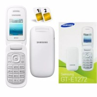 HP Samsung Lipat Caramel E1272 Dua Sim gsm Bahasa Indonesia