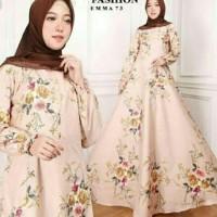 Baju Gamis Wanita Pesta Muslimah Terbaru Maxi Emma Dress Busana Muslim