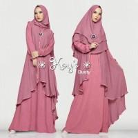 Jubah Syari Wanita Baju Gamis Dewasa Setelan Busana Muslim Muslimah