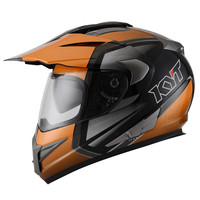 Helm KYT Enduro Grey Orange Supermoto Glossy Abu orange