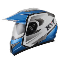 Helm KYT Enduro Blue White Supermoto biru putih