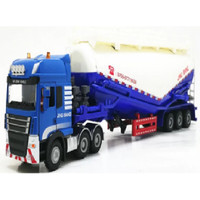 Mainan Truck Trailer tank vehicles Powder conveyor Cement Truck