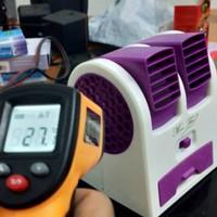 Cooler ac mini double fan kipas portable kencang sejuk
