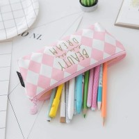 dompet pensil stationery cute pink edition