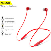 Headset Earphone Extra Bass Bluetooth Wireless Ambigo TF3 Neckband