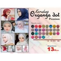 Hijab / Jilbab / Kerudung Segi Empat Organza Dots